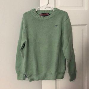 Vineyard Vines Light Green Cotton Crewneck Sweater